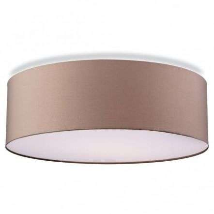 Modern Taupe Drum Shade Suspended Ceiling Pendant Light Fitting