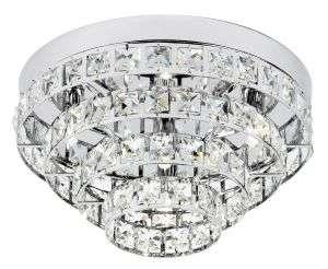Motown 4-Light Polished Chrome Flush Fitting