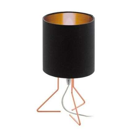 Nambia Table Lamp in Copper C/W Black & Copper Shade