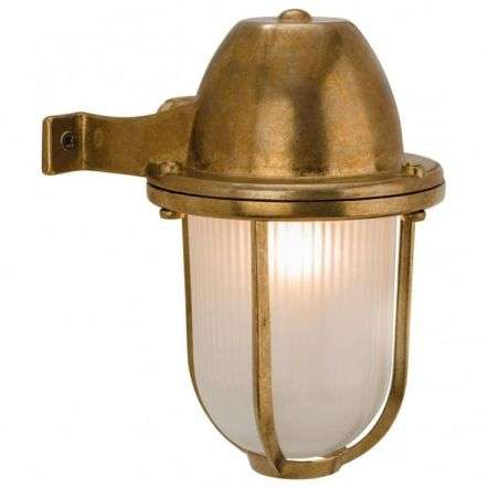 Nautic Brass Outdoor Down right Wall Light