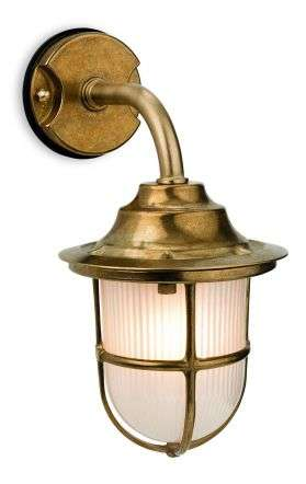 Nautic Outdoor Wall Light in Brass Finish