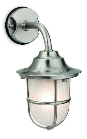 Nautic Outdoor Wall Light in Nickel Finish
