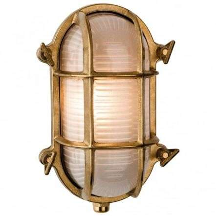 Nautic Oval Brass Flush Outdoor Wall Fitting
