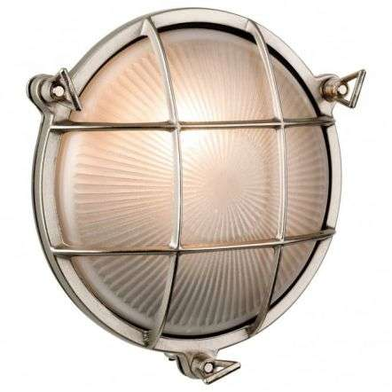 Nautic Oval Nickel Flush Outdoor Wall Fitting