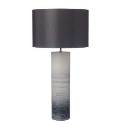 Nazare Table Lamp Black/White Ceramic Base Only