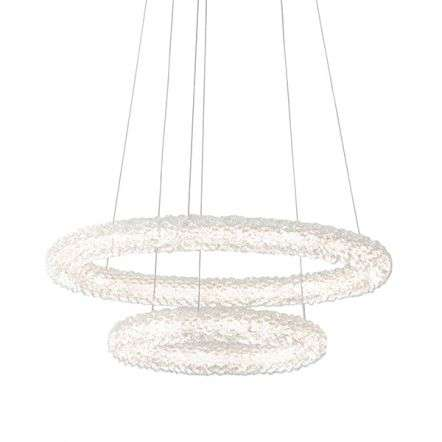 Neve 2 Ring Crystal Chandelier
