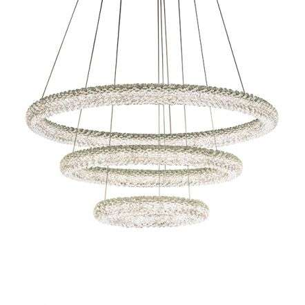 Neve 3 Ring Crystal Chandelier