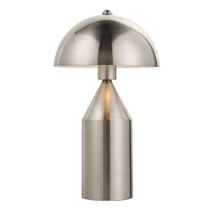 Nova Table Lamp in Brushed Nickel Finish