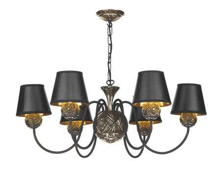 Novella 6 Light Pendant Facetted Bronze