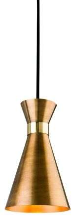 Ohio Single Pendant in Antique Gold with Brass