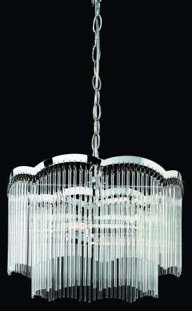Opera 2 Light Ceiling Pendant in Polished Chrome