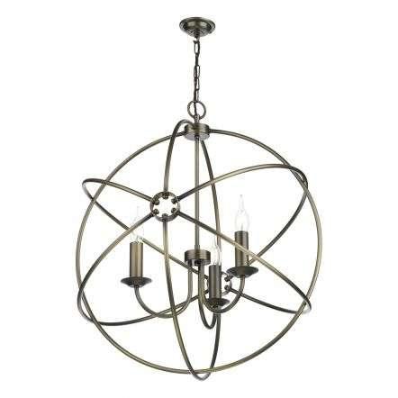 Orb 3 Light Pendant Antique Brass
