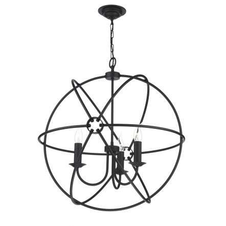 Orb 3 Matt Black Pendant 600mm