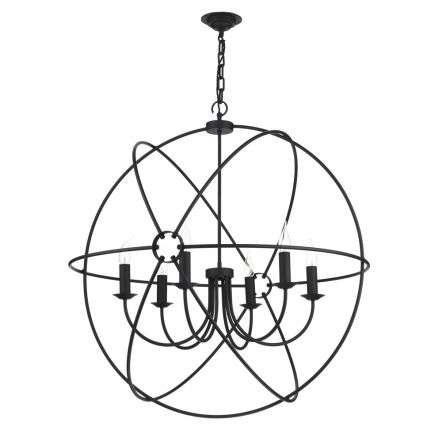 Orb 6 Light 900mm Pendant Black