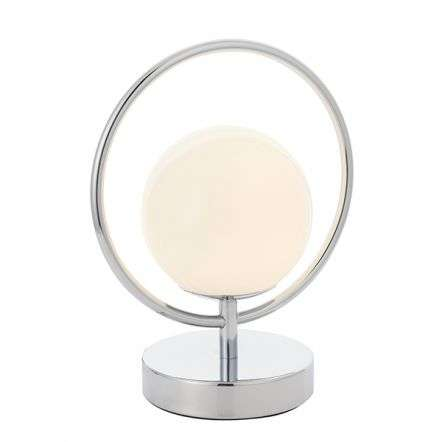 Orb Chrome Table Lamp with Opal Glass
