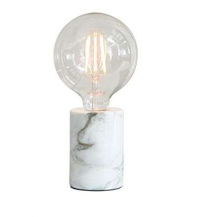 Otto White Marble Table Lamp Base Only