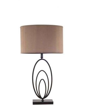 Ovalo Oil Rubbed Bronze Table Lamp c/w Shade