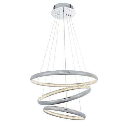 Ozias 3 Light LED Chrome Pendant with Crystal Detail