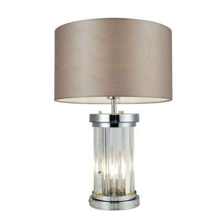 Pandora 2 Light Crystal Table Lamp Polished Chrome