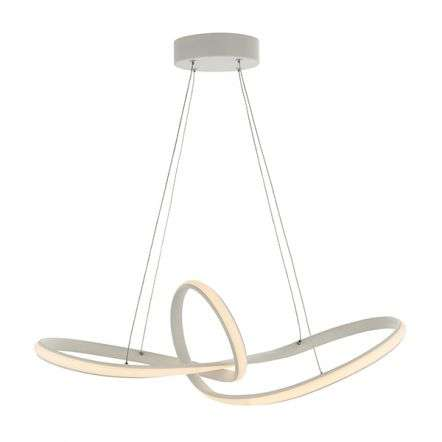 Paradox LED Looped Pendant in White Finish