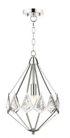 Paragon 1 Light Crystal Pendant Polished Chrome