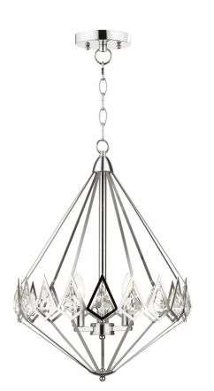 Paragon 3 Light Crystal Pendant Polished Chrome