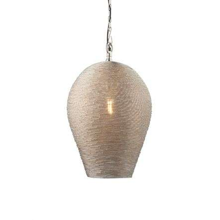 Paresh Wire Pendant in Polished Nickel Finish