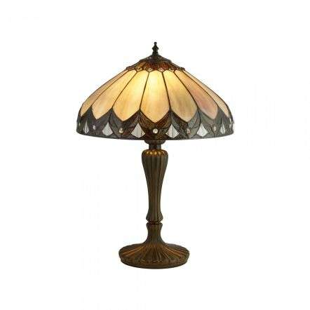 Pearl Bronze Tiffany Table Lamp Large