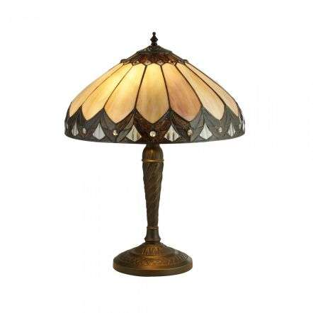 Pearl Bronze Tiffany Table Lamp Small