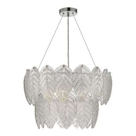 Phillipa 3 Light Pendant Clear Glass And Polished Chrome