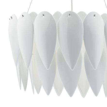 Phillipa 3 Light Pendant White Ceramic