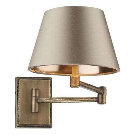 Pimlico Solid Brass Swing Arm Wall Light