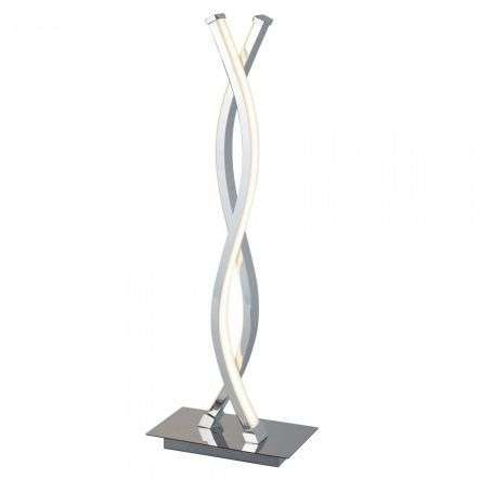 Platt LED Wave Table Lamp Chrome