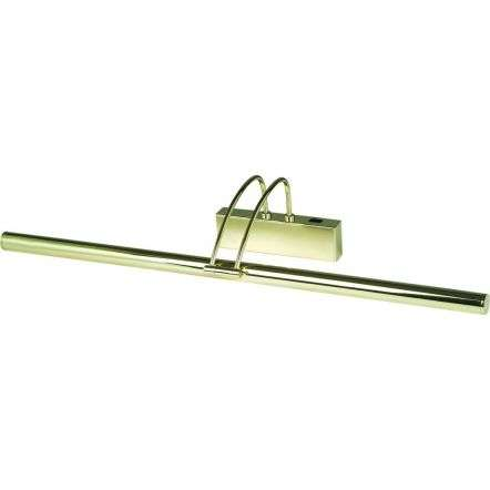POLISHED BRASS PICTURE LIGHT WITH ADJUSTABLE HEAD