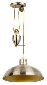 Polka Antique Brass Rise and Fall Metal Pendant