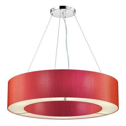 Polo Bespoke 85cm 6 Light Silk Shade Pendant