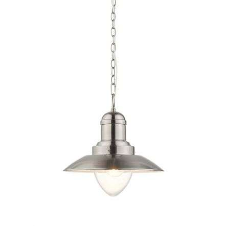Polperro Pendant in Antique Chrome Finish
