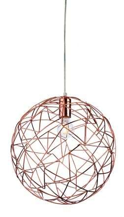 Praga Single Light Ceiling Pendant in Copper