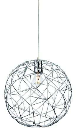 Praga Single Light Ceiling Pendant in Polished Chrome