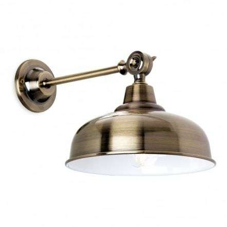 Preston Single Light Wall Fitting In Antique Brass Finish