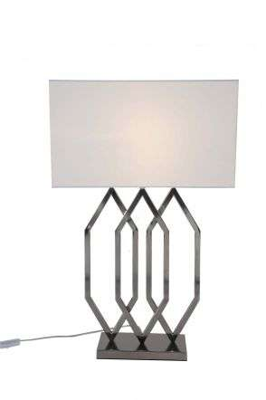 Prism Polished Chrome Table Lamp c/w Shade