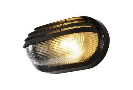 Puck Black Bulkhead Light with Eyelid