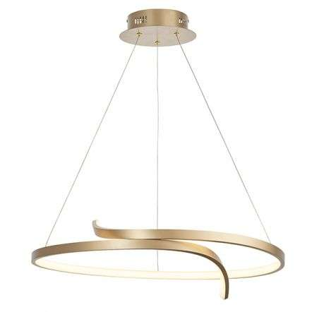 Rafe LED Pendant in Matt Brushed Gold Finish