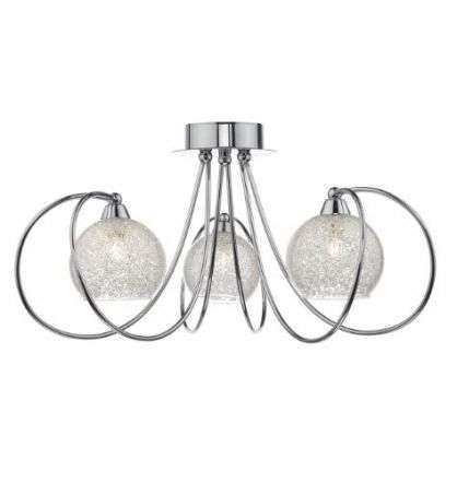 Rafferty 3 Light Semi Flush Polished Chrome