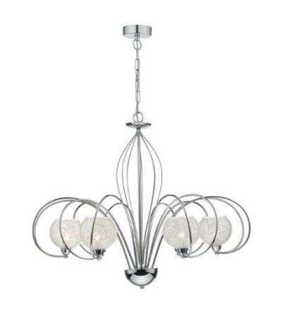 Rafferty 6 Light Pendant Dual Mount Polished Chrome