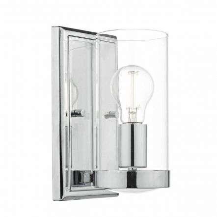 Ramiro Wall Light Polished Chrome & Glass