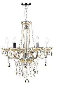 Raphael 5-Light Chrome Pendant