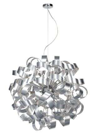 Rawley 12-Light Brushed Aluminium Pendant
