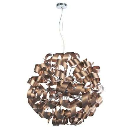 Rawley 12-Light Brushed Satin Copper Pendant