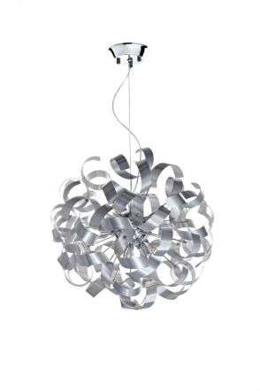 Rawley 9-Light Brushed Aluminium Pendant